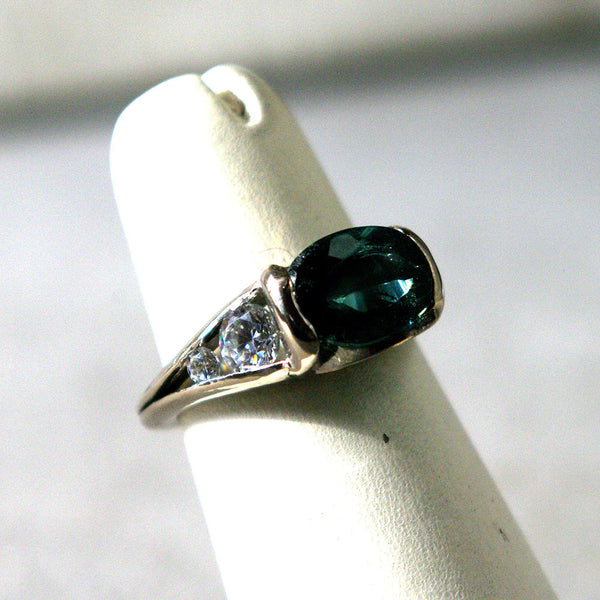 14K Gold Ring with Diamonds and Tourmaline Custom Order - riccoartjewelry.com  - 3