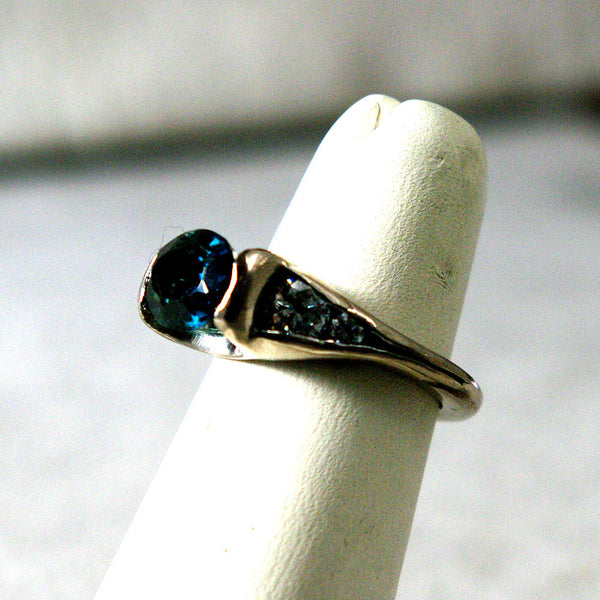 14K Gold Ring with Diamonds and Tourmaline Custom Order - riccoartjewelry.com  - 4