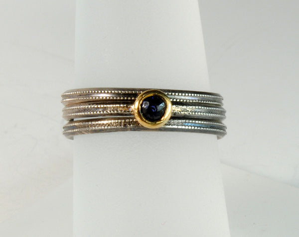 Skinny Stack Set with Sapphire - riccoartjewelry.com  - 6