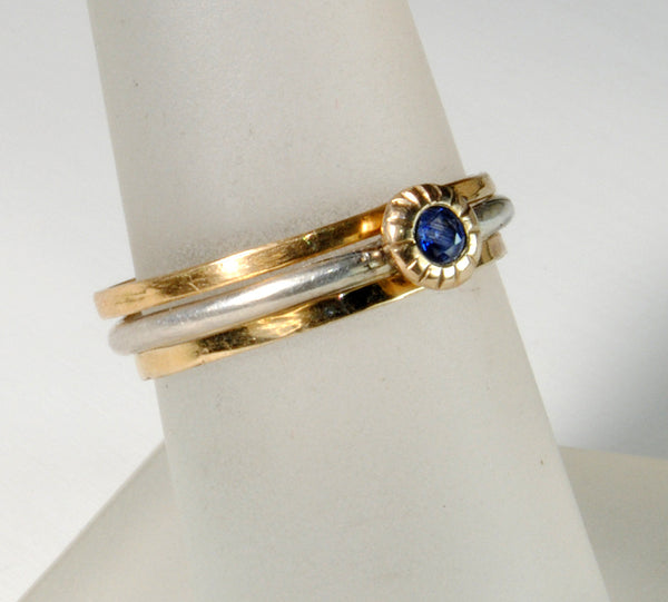 Skinny Stack Set with Sapphire 4 - riccoartjewelry.com  - 6