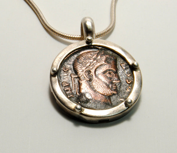 Ancient Coin  Constantine in Silver - riccoartjewelry.com  - 1