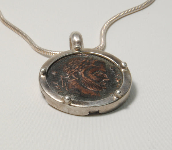 Ancient Coin  Constantine in Silver - riccoartjewelry.com  - 5