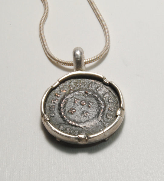 Ancient Coin  Constantine in Silver - riccoartjewelry.com  - 3