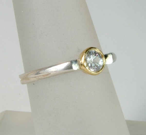 Stack  Ring Solitaire Gold Bezel - riccoartjewelry.com  - 2