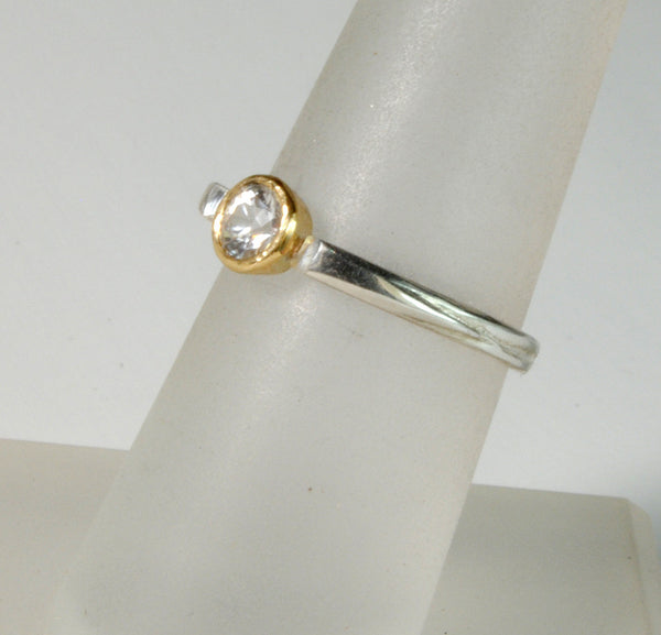 Stack  Ring Solitaire Gold Bezel - riccoartjewelry.com  - 3