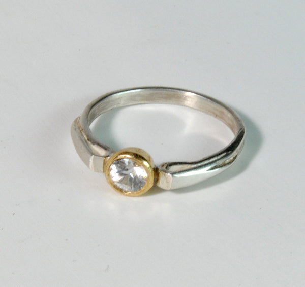 Stack  Ring Solitaire Gold Bezel - riccoartjewelry.com  - 4