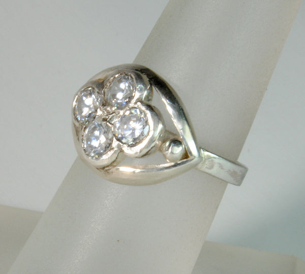 18K Gold Ring with One Carat Diamond Cluster Custom Order - riccoartjewelry.com  - 3