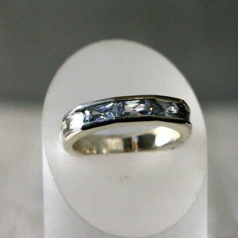 Men's Ring with Three Baguette Diamonds Custom Order - riccoartjewelry.com  - 1