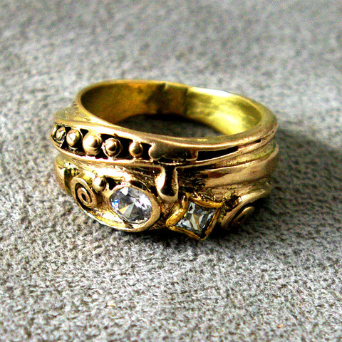 Gold Ring with Diamonds Custom Order - riccoartjewelry.com  - 1