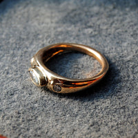 14K Gold Ring with Diamonds - riccoartjewelry.com  - 4