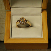 18K Gold Ring with Two and One-half Carat Diamond Custom Order - riccoartjewelry.com  - 3