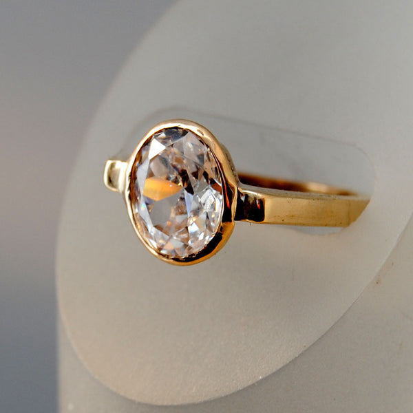 18K Gold Ring with Two and One-half Carat Diamond Custom Order - riccoartjewelry.com  - 4