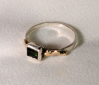 18K and Silver Nugget Ring with Tourmaline 6