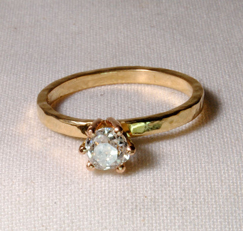 Gold Ring with Old Miner Cut Diamond