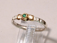 Stack Ring with Emerald