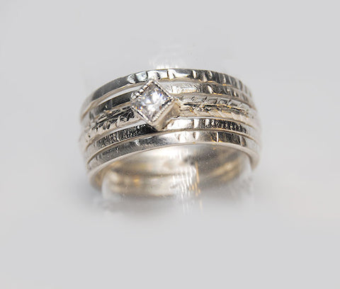 Skinny Stackable Ring Set New Design - riccoartjewelry.com  - 1
