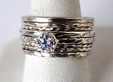 Engagement ring with stack rings set 2 - riccoartjewelry.com  - 2