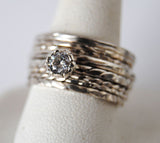 Engagement ring with stack rings set 2 - riccoartjewelry.com  - 1