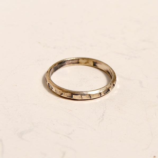 Silver Stack Rings--New Patterns - riccoartjewelry.com  - 6