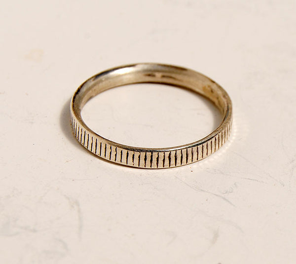 Silver Stack Rings--New Patterns - riccoartjewelry.com  - 2