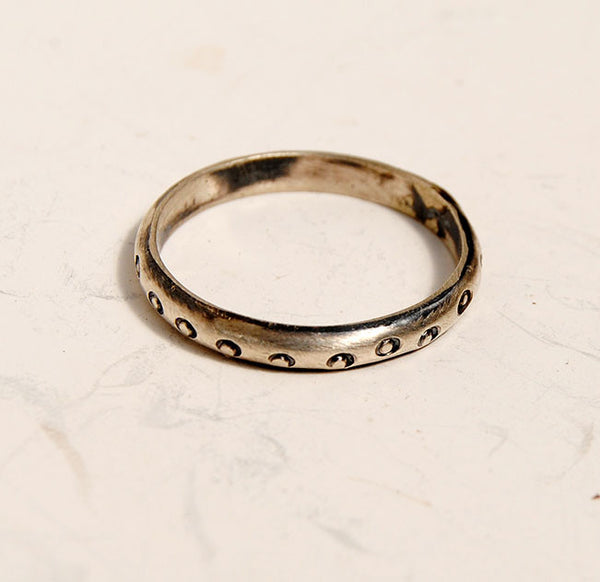 Silver Stack Rings--New Patterns - riccoartjewelry.com  - 7