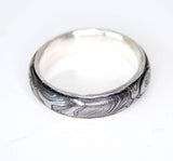 Men's Ring Damascus Steel with Gold Liner - riccoartjewelry.com  - 4