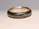 Men's Ring Damascus Steel with Gold Liner - riccoartjewelry.com  - 3