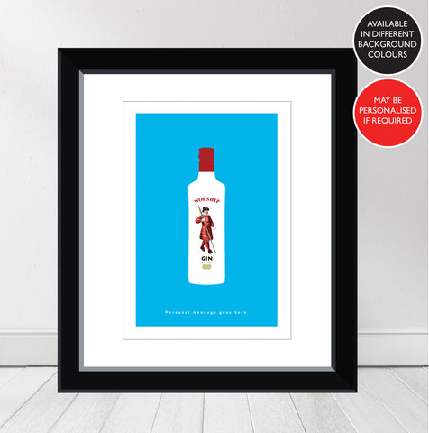 'Favourite GIN' Beefeater Personalised Print