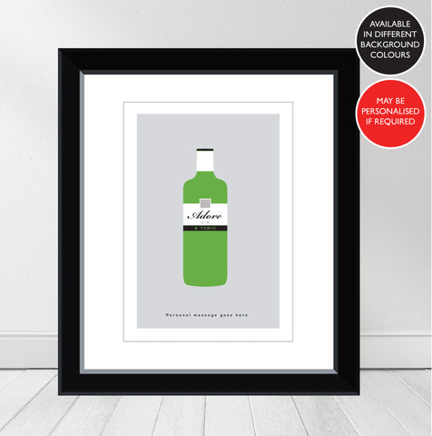 'Favourite GIN' Gordons Personalised Print