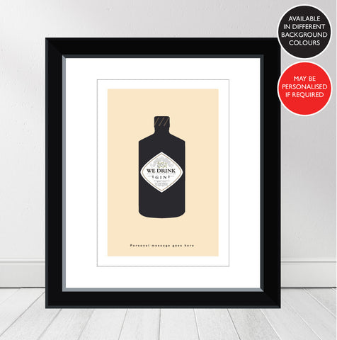 'Favourite GIN' Hendricks Personalised Print