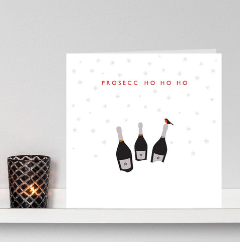 'Prosecco Ho Ho Ho' Christmas Card no.1