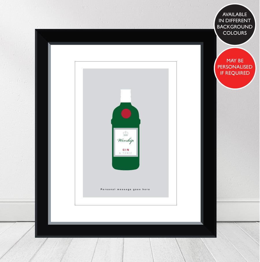 'Favourite GIN' Tanqueray Personalised Print