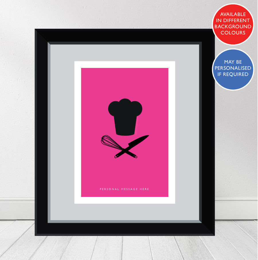 """Contemporary Cook "" Personalised Print No.1"