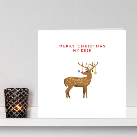 'Merry Christmas My Deer' Christmas Card