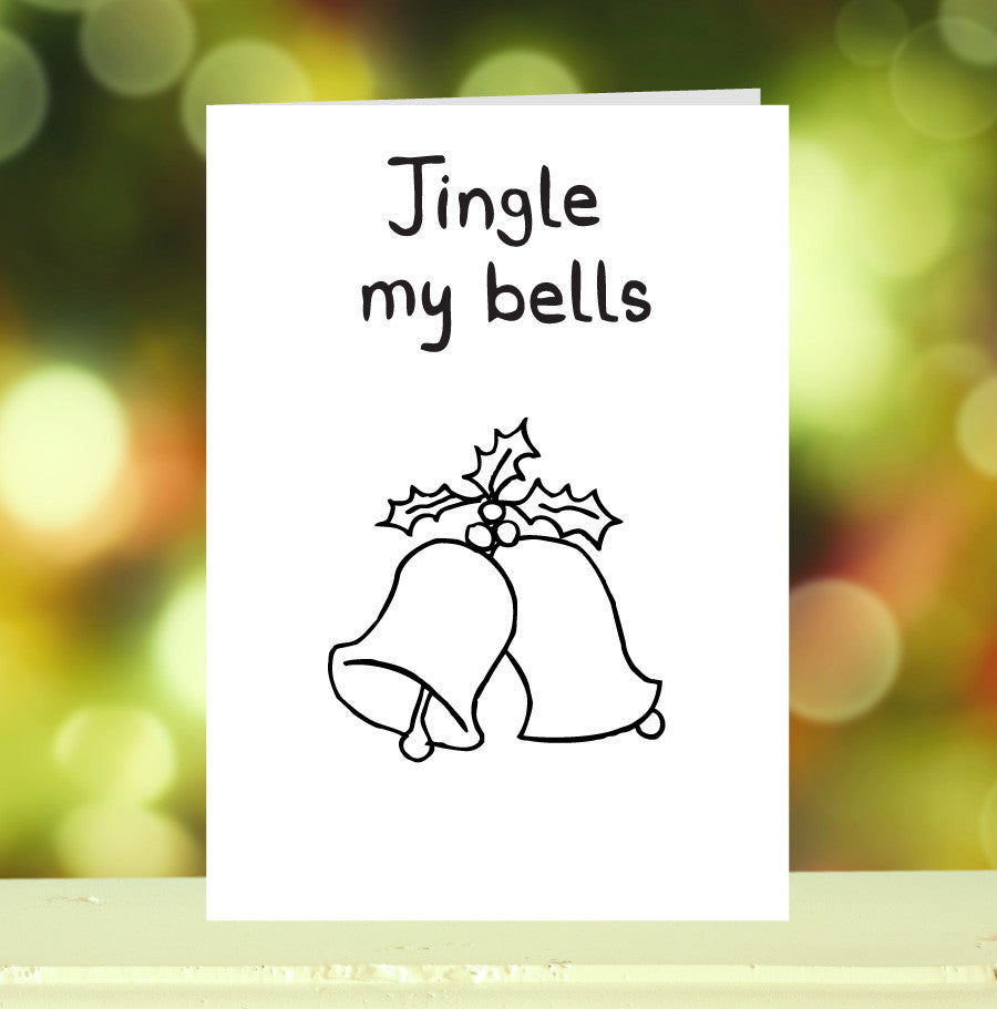 'Jingle My Bells' Christmas Card