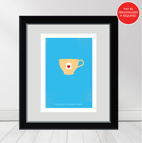 """Love Tea"" Personalised Print"
