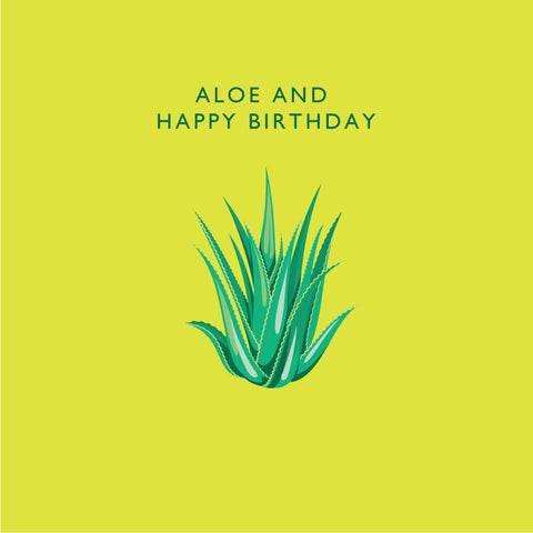 Aloe and Happy Birthday