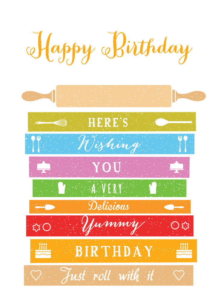 'Happy Birthday' - Baker Greetings Card