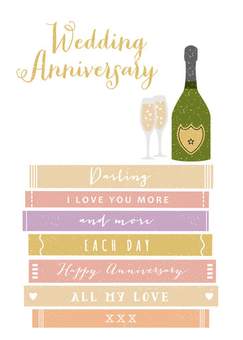 'Wedding Anniversary' Greetings Card