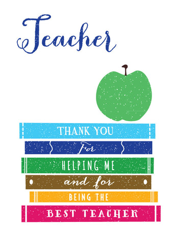 'Thank You Teacher' Greetings Card
