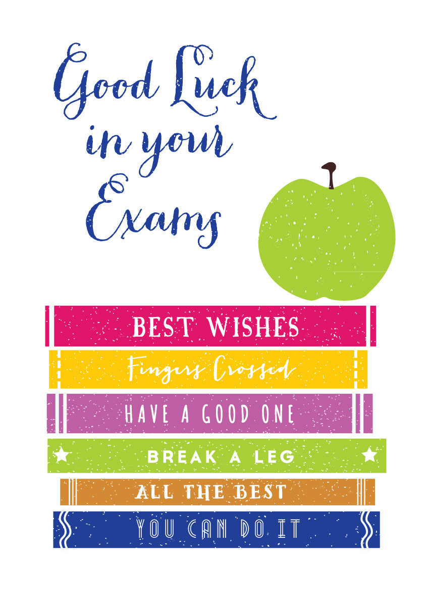 Good Luck In Your Exams Greetings Card Loveday Designs