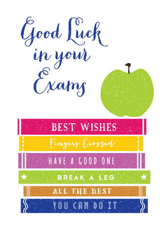 'Good Luck in your Exams' Greetings Card
