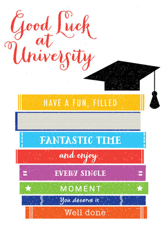 'Good Luck at University' Greetings Card