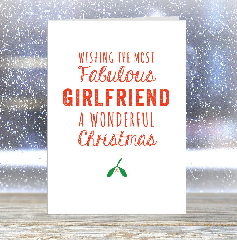 most fabulous girlfriend a wonderful christmas card loveday designs - Christmas Card For Girlfriend