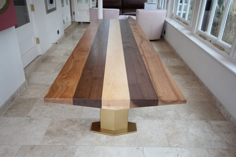 HARMONY DINING TABLE WITH MIXED WOODS