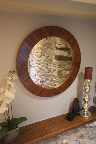 Rosebud Mirror in Rosewood