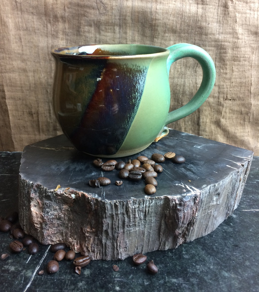 MUG - ceramic/stoneware - 16 oz - Green