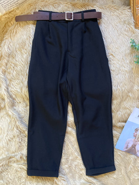 SHELDON High Waist Pants with belt