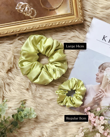 Satin Scrunchies - Lime