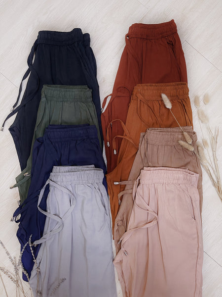 TOMLIN Drawstring Cotton Trousers
